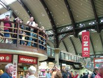 Filling York Station with bubbles while waiting for the Hogwart's Express