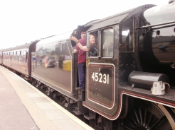 They let me in the drivers carriage of the real Hogwart's Express!