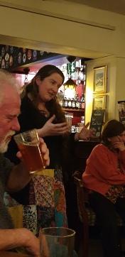 Suzanne Thomas telling Shropshire story Maisie Bloomer